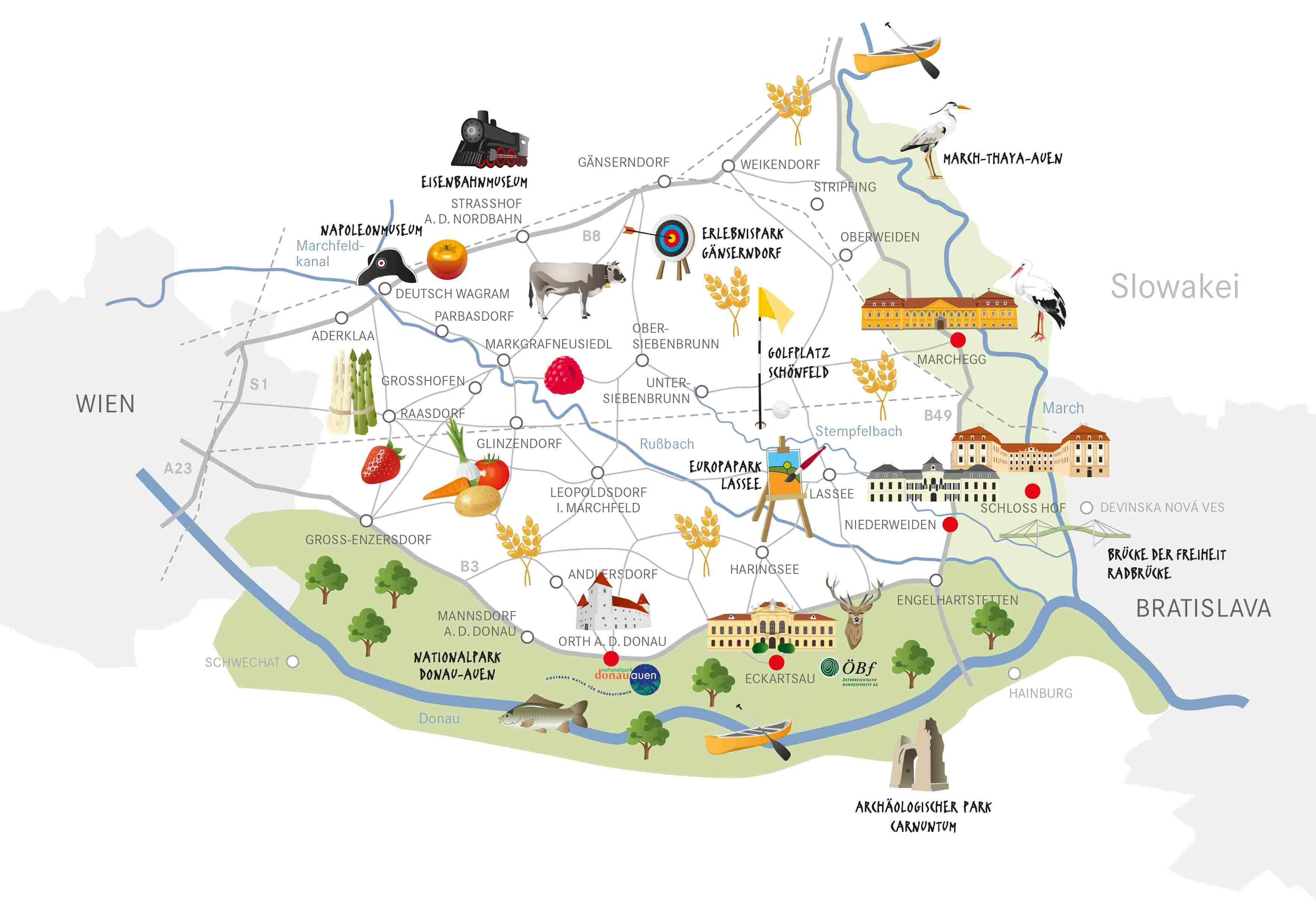 Regionsgrafik Marchfeld